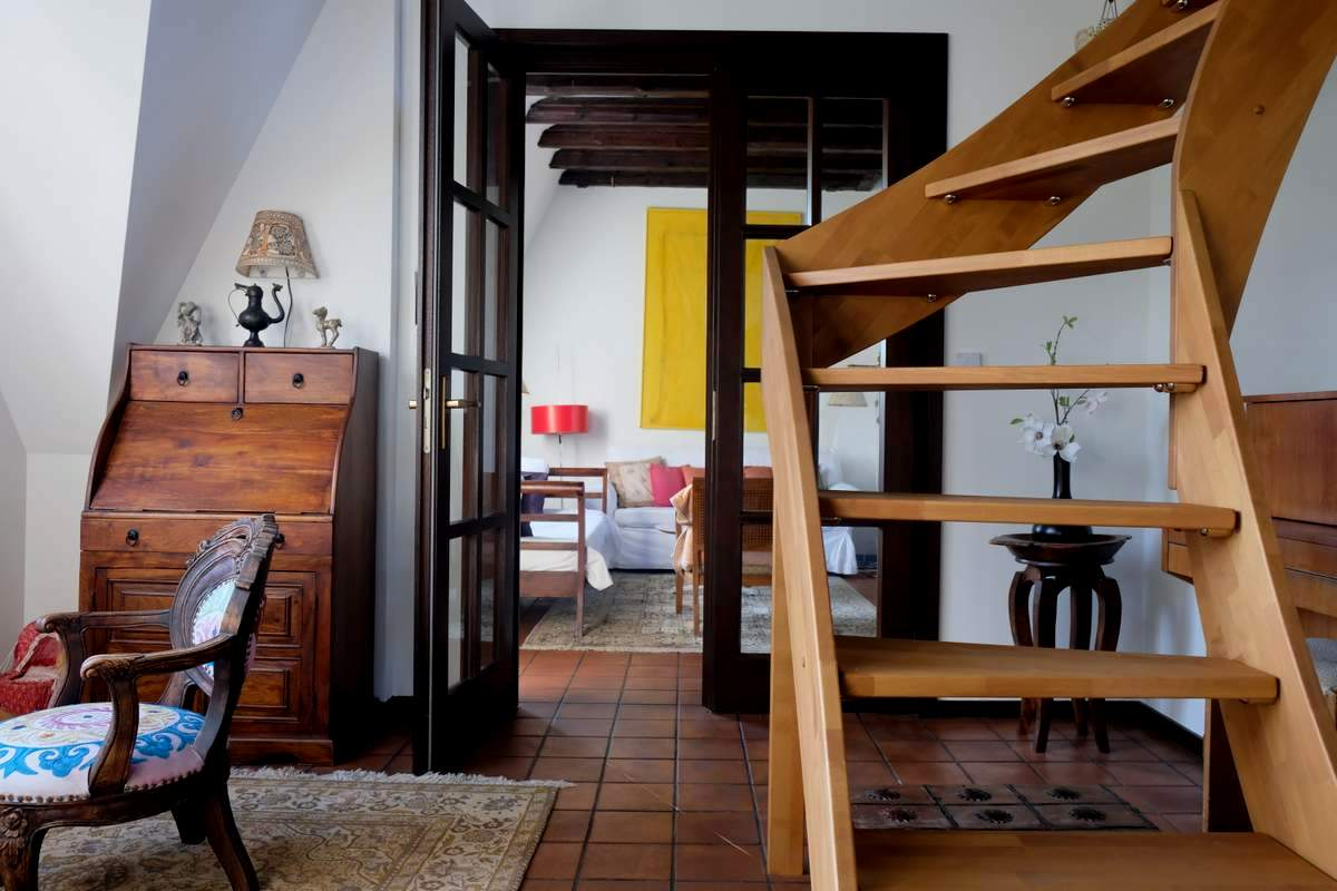 065-Wohnen-auf-Zeit-Frankfurt-33 Stylish Attic holiday apartment with view in Frankfurt City %Bockenheim